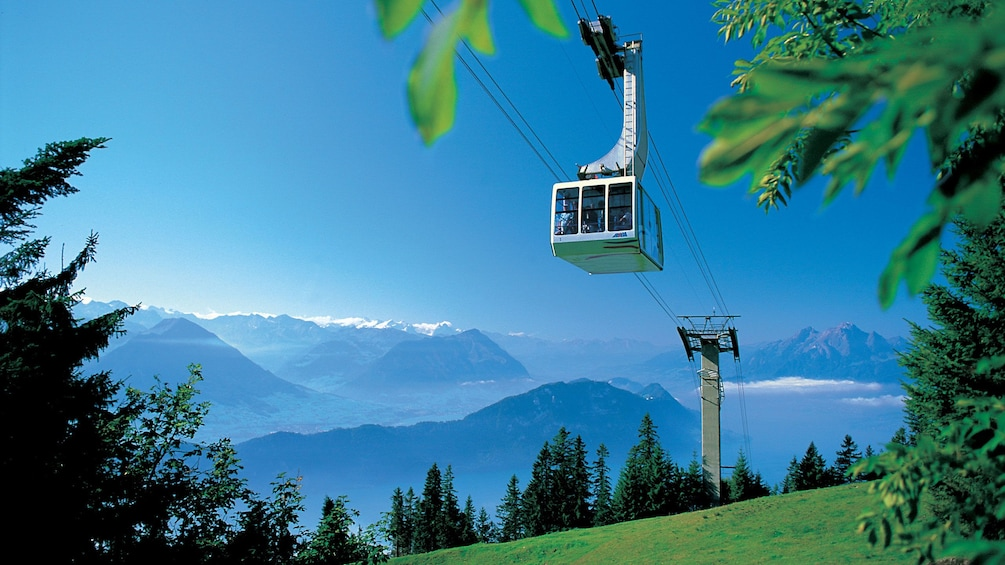 Trolley view in Switzerland