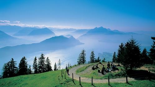 Foggy mountain view in Switzerland