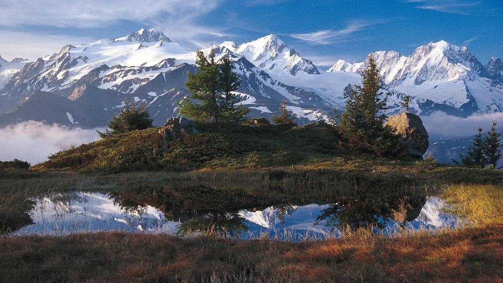 mountain view in geneva
