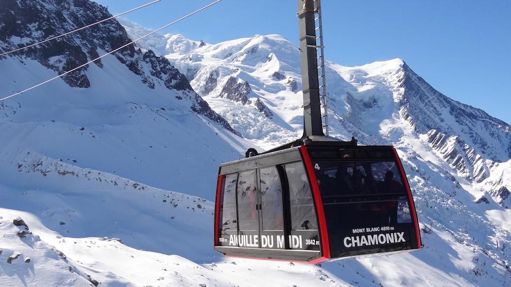 Show item 1 of 9. Chamonix & Mont Blanc with Aiguille du Midi & Mer de Glace