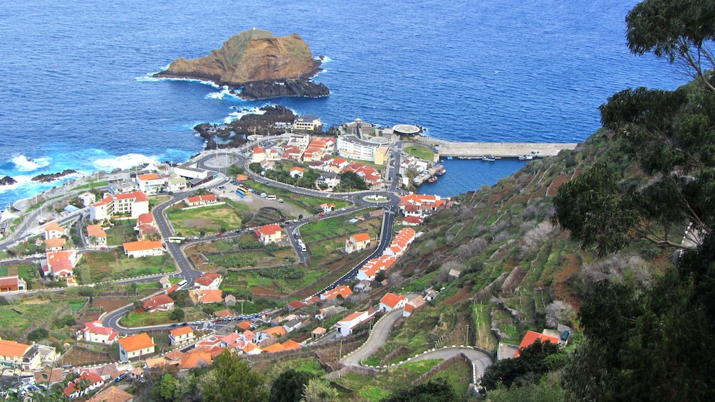 A coastal town in Madeira