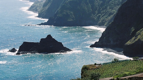 Rock formations off the coast of Madeira