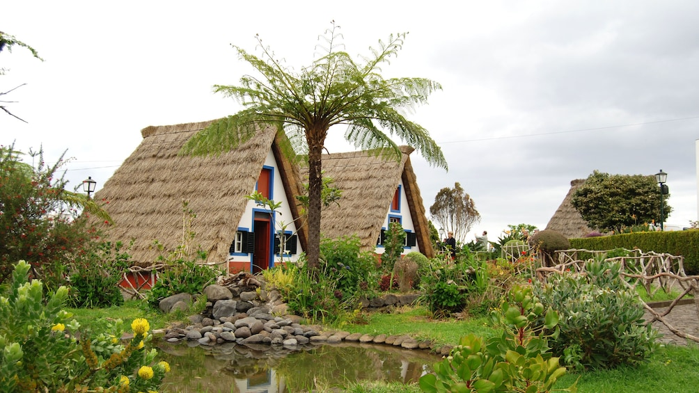 Traditional thatched cottages in Santana