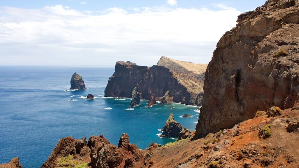 Rock formations on the coast of Santana