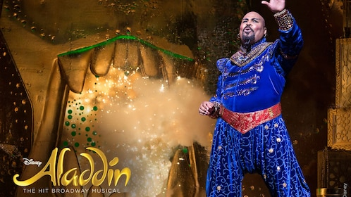 scene from Aladdin show in new york