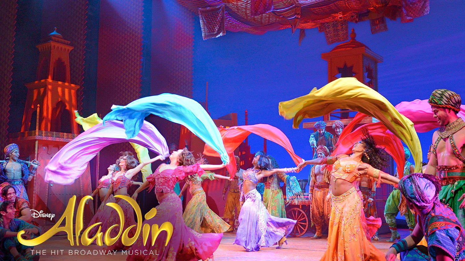 scene from Aladdin show in new york