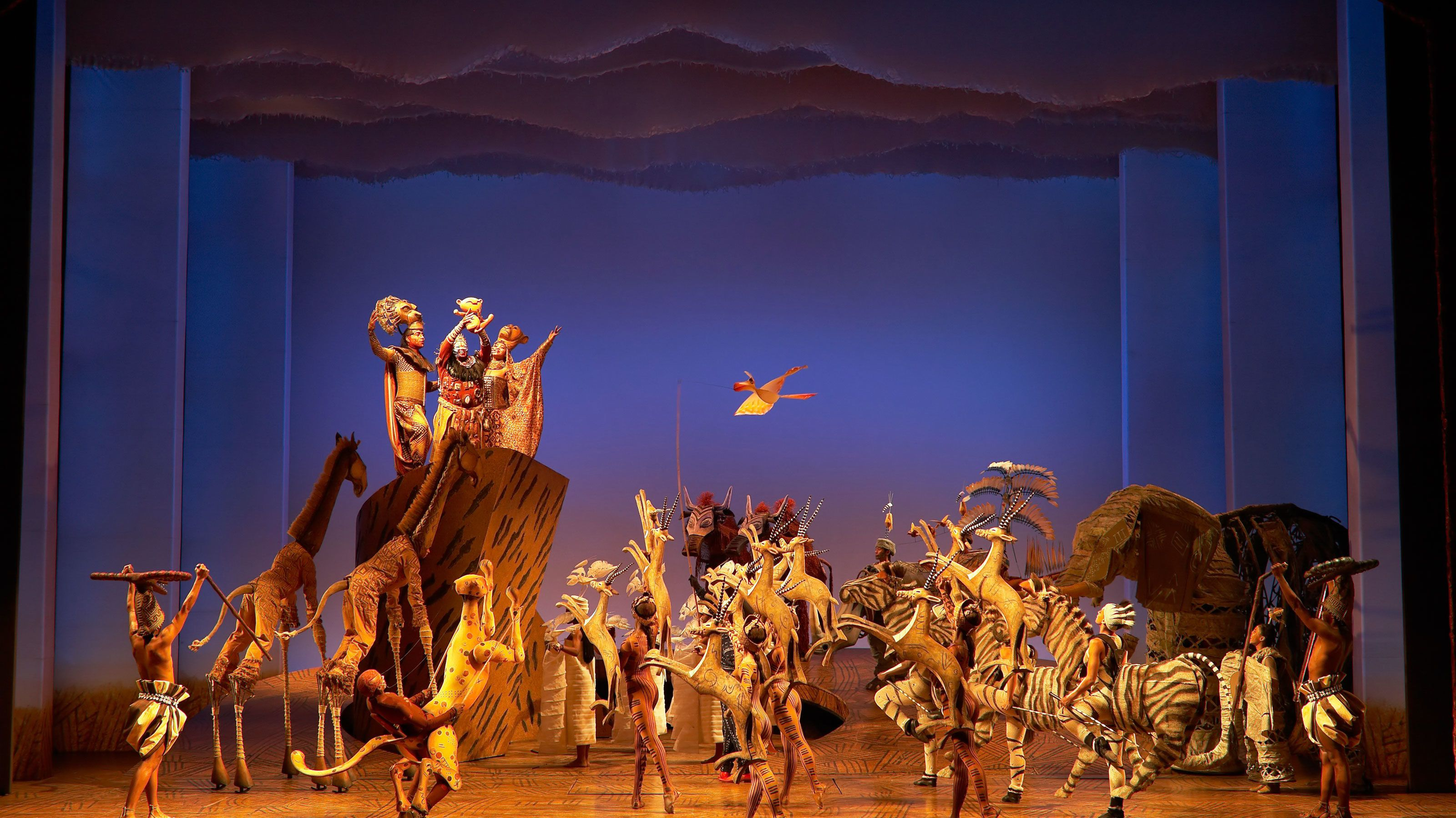 The Circle of Life performance in The Lion King in New York