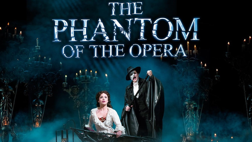 Show item 1 of 10. The Phantom in The Phantom of the Opera on Broadway in New York