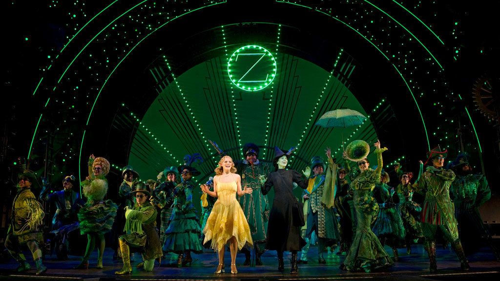Scene from Wicked the Broadway show