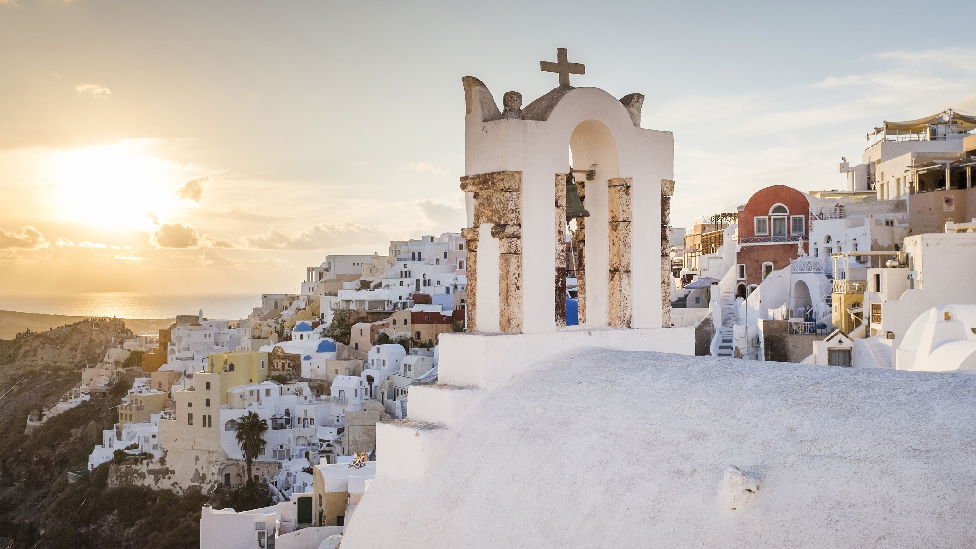 Stunning view of the city of Santorini