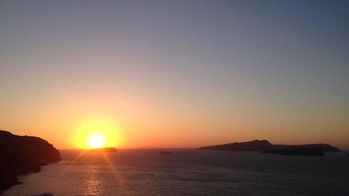 Sunset view of Santorini