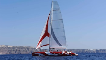 Catamaran Dream Catcher Caldera Cruise with Barbecue