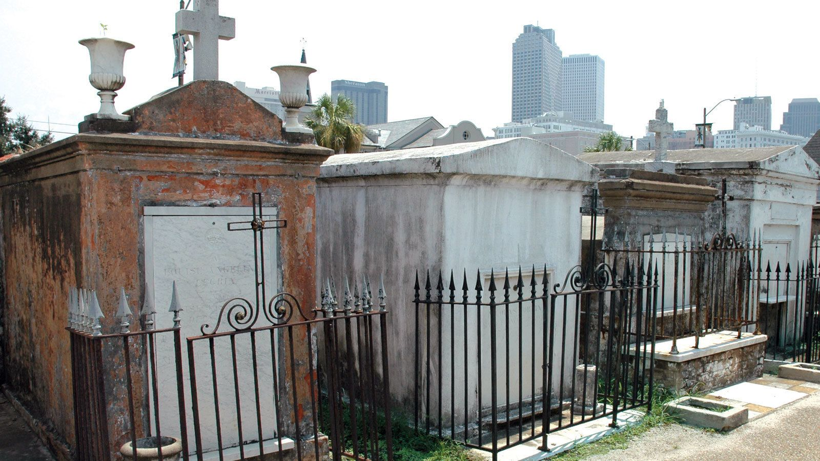 French quarter cemetery in New Orleans