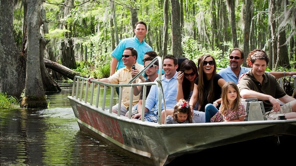 Show item 5 of 8. New Orleans Night Swamp Tour (With Transportation)