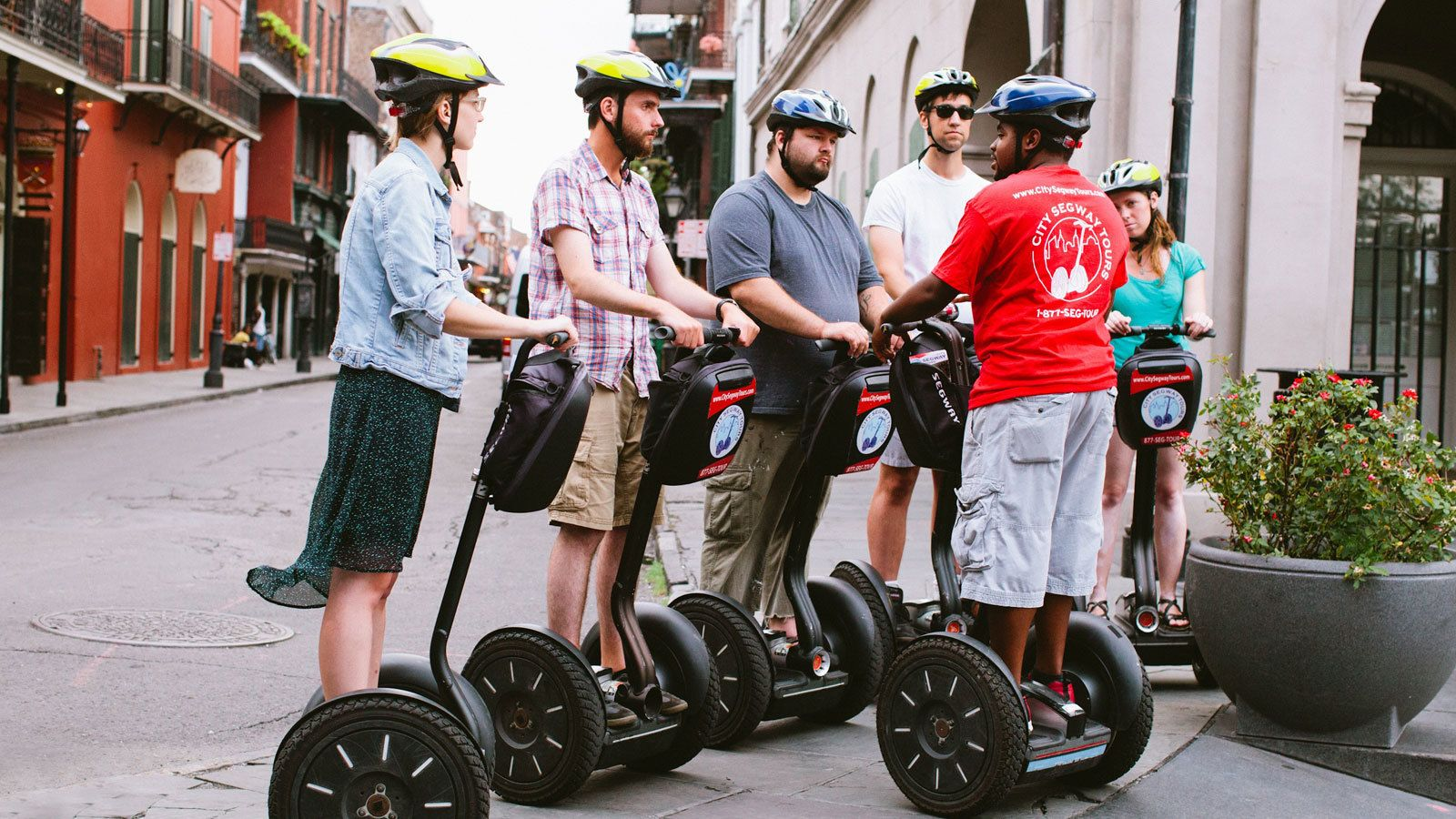 tour guide giving tour of New orleans on segways