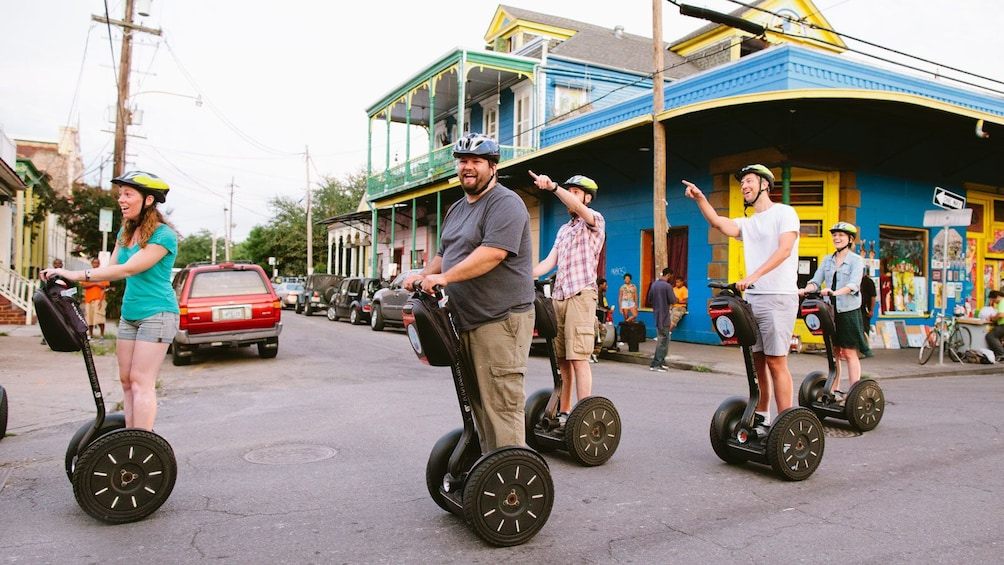 Show item 3 of 4. tour guide giving tour of New Orleans on segways