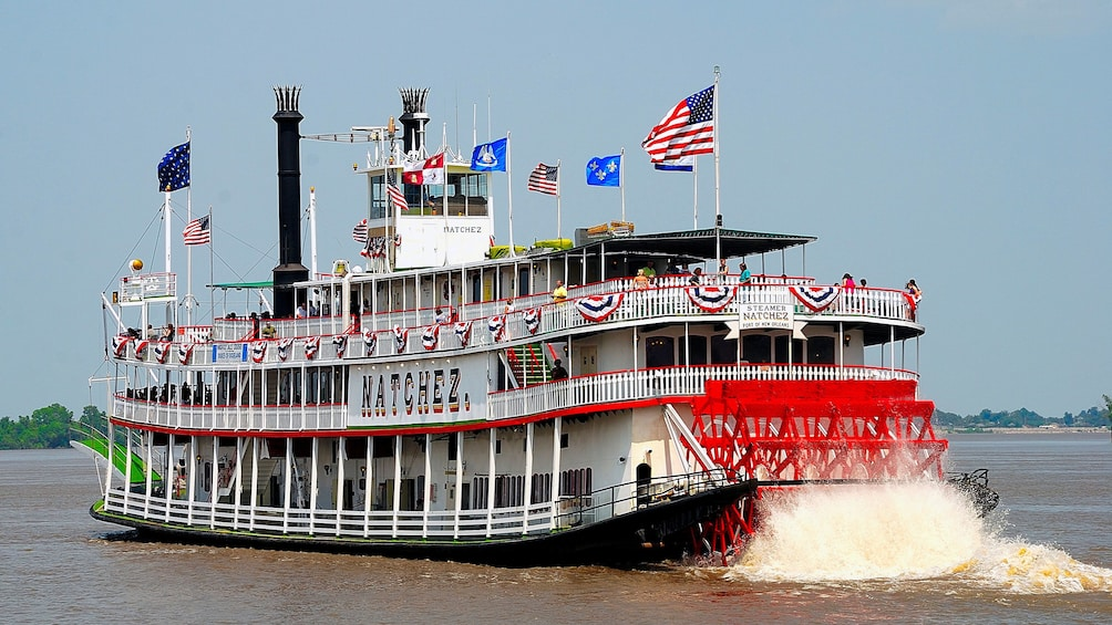 steamboat Natchez on river in New Orleans