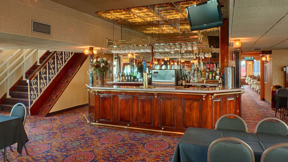 Show item 3 of 9. riverboat seating area and bar in New Orleans