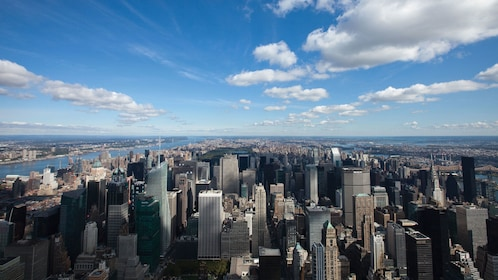 The city as seen from the Empire State Building in New York