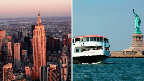 Combo image of activities on tour in New York