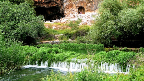 A stream running past an old site in Jerusalem