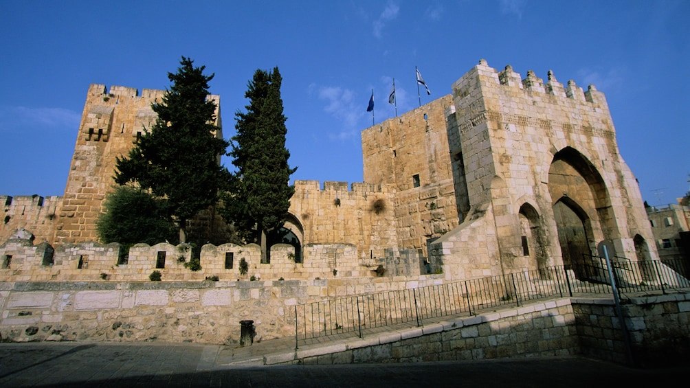 An ancient stone wall in jerusalem
