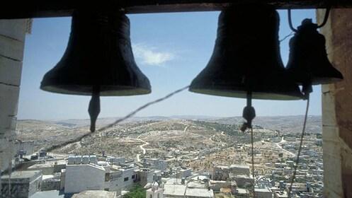 bells in a bell tower in Bethlehem