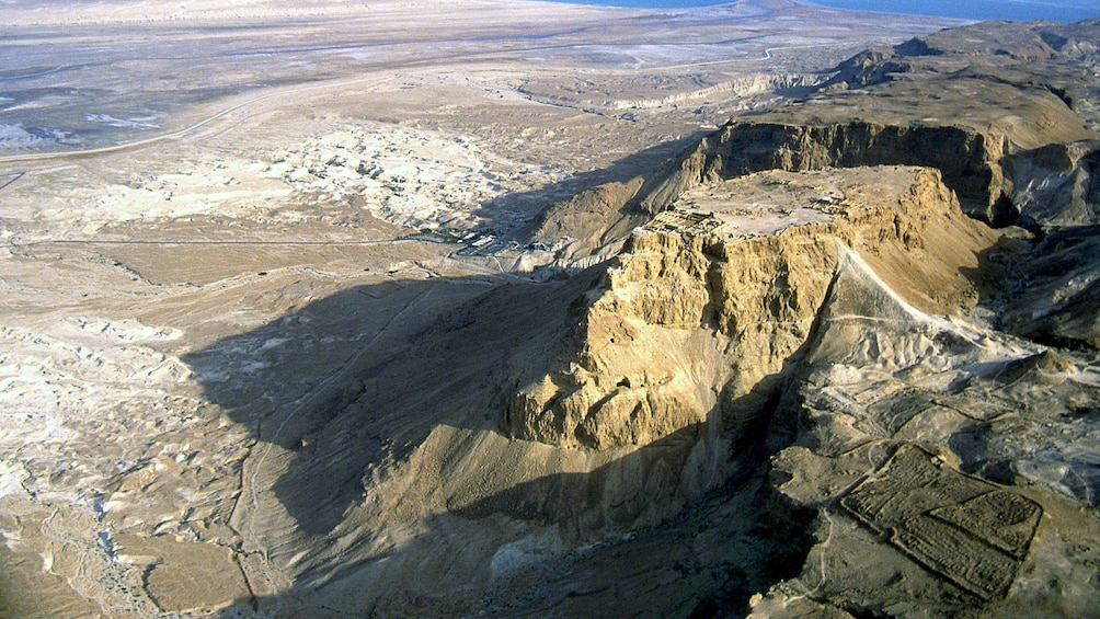 Aerial view of cliffs in Israel