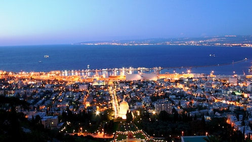 A view of Acre at night
