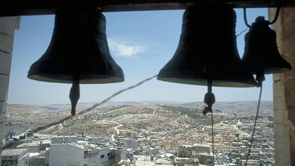 Show item 3 of 5. Bells in a church in Bethlehem