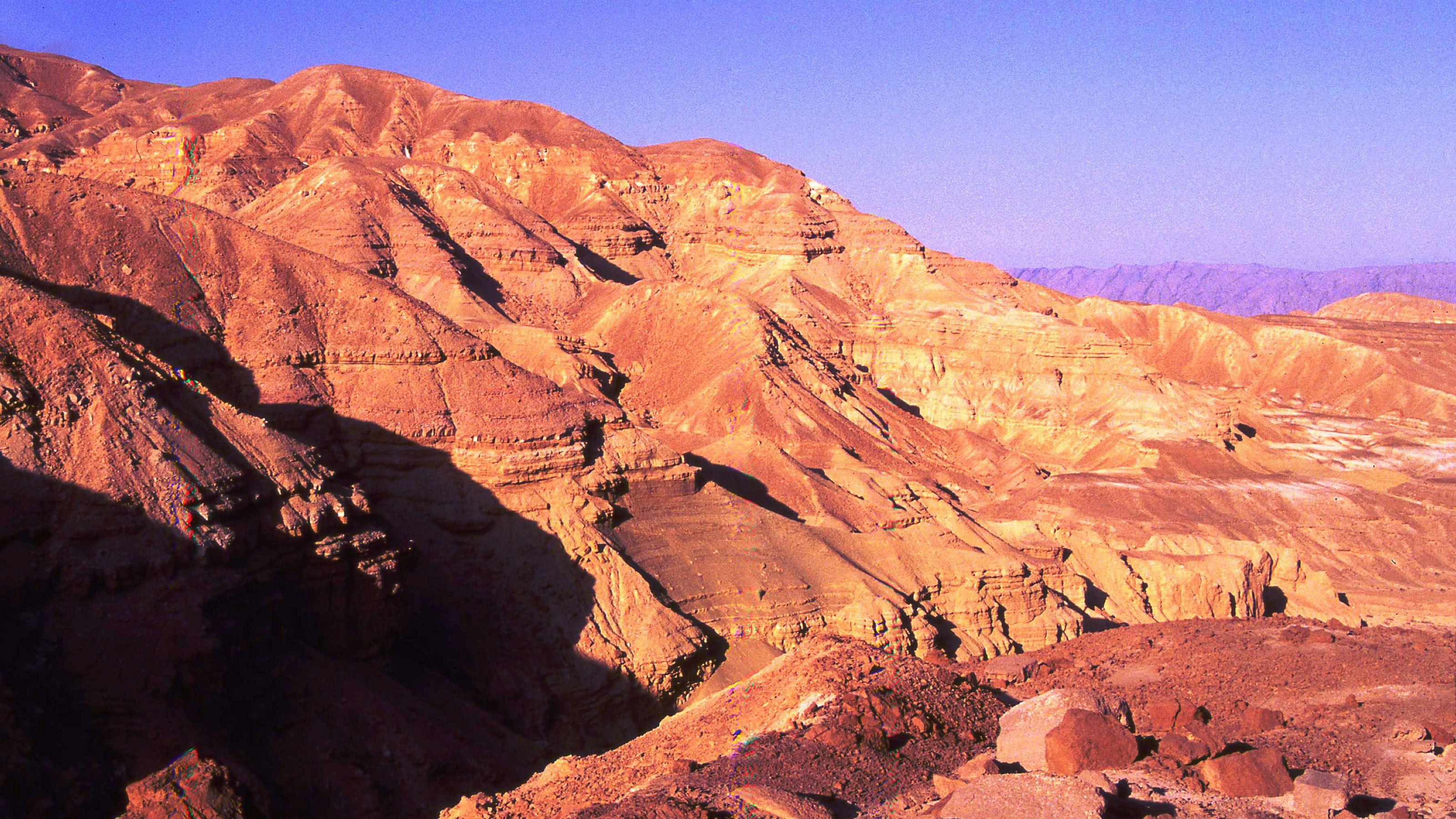Desert mountains in Jericho