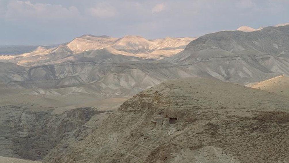 The desert and mountains outside bethlehem