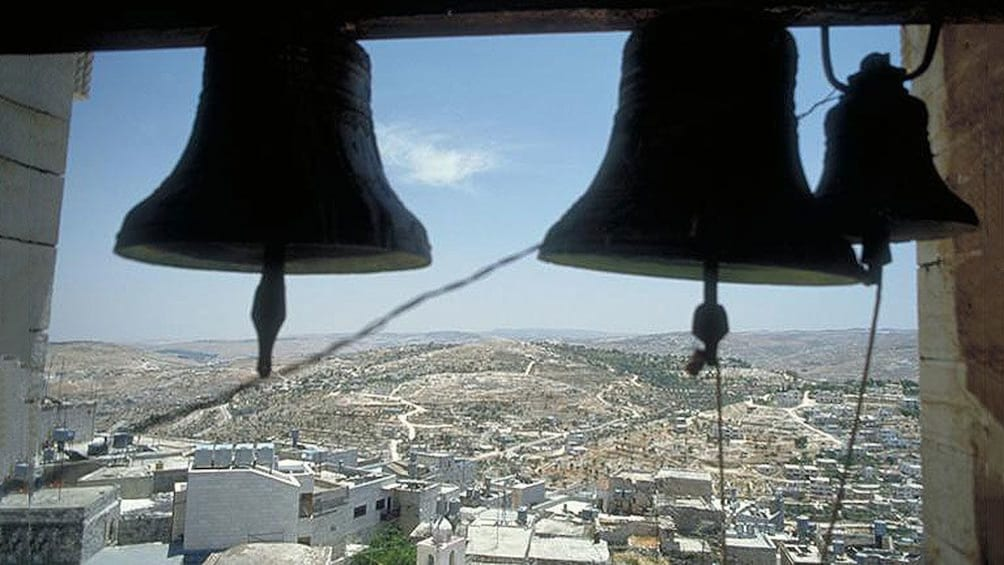 Show item 4 of 6. bells in a church in bethlehem