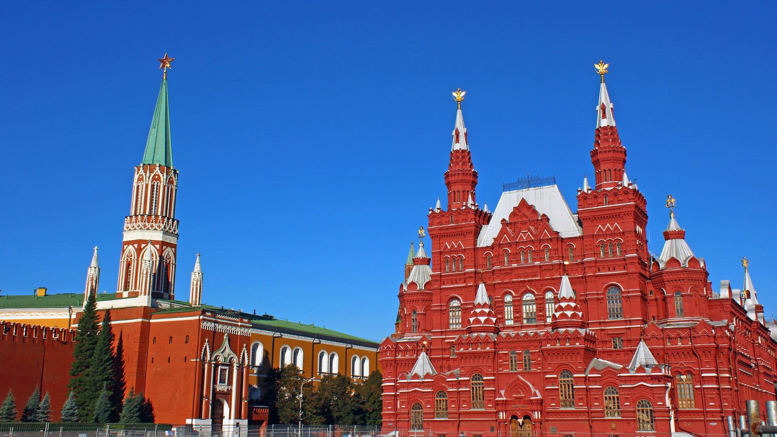 Red cathedral in Moscow, Russia