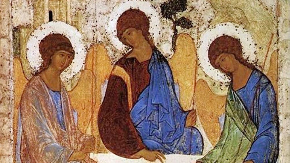 Foto 3 von 4 laden Tapestry displayed in Tretyakov Gallery