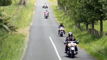 Harley Davidson Chauffeured Passenger Tour to Waitomo Caves