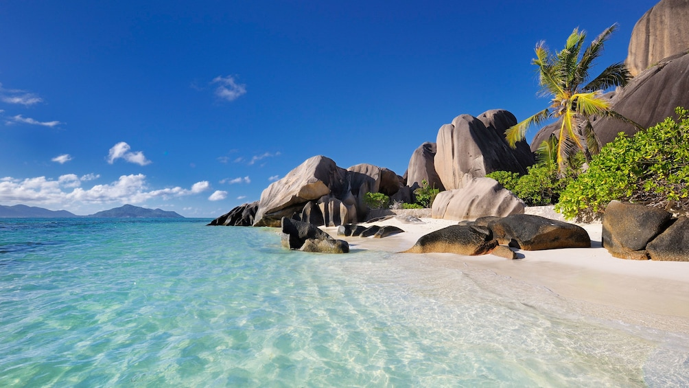 Show item 4 of 5. Beautiful beach in Seychelles