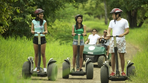 group riding segways on a trail in Casela Nature Park