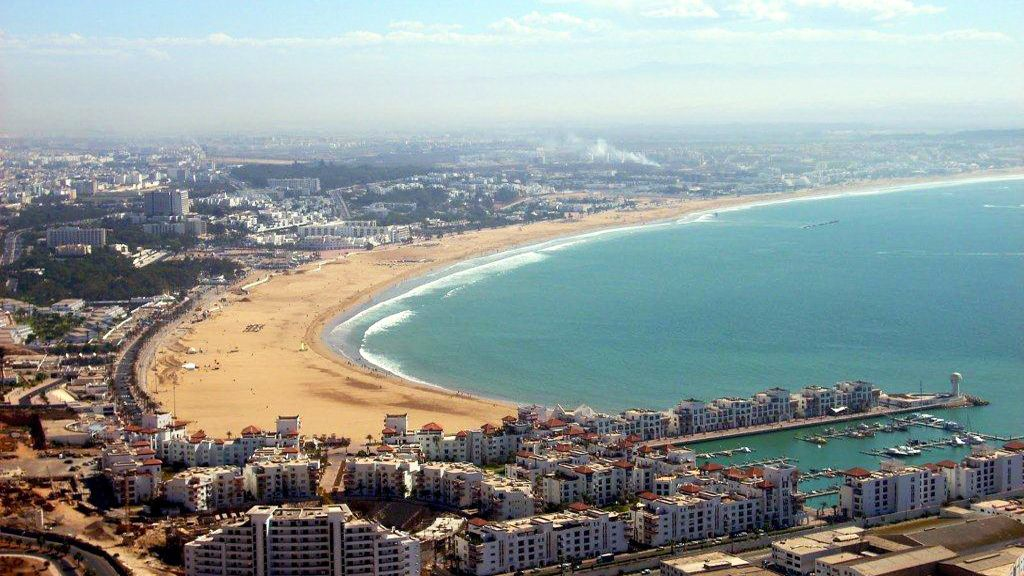 A view of Agadir and its coast