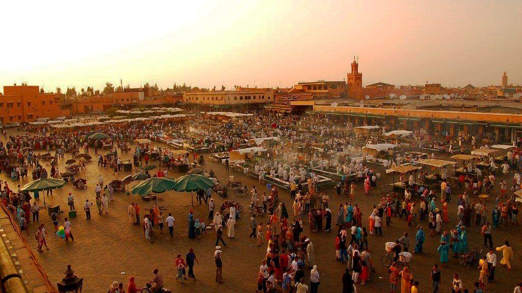 Jamaa el Fna market place in Marrakesh