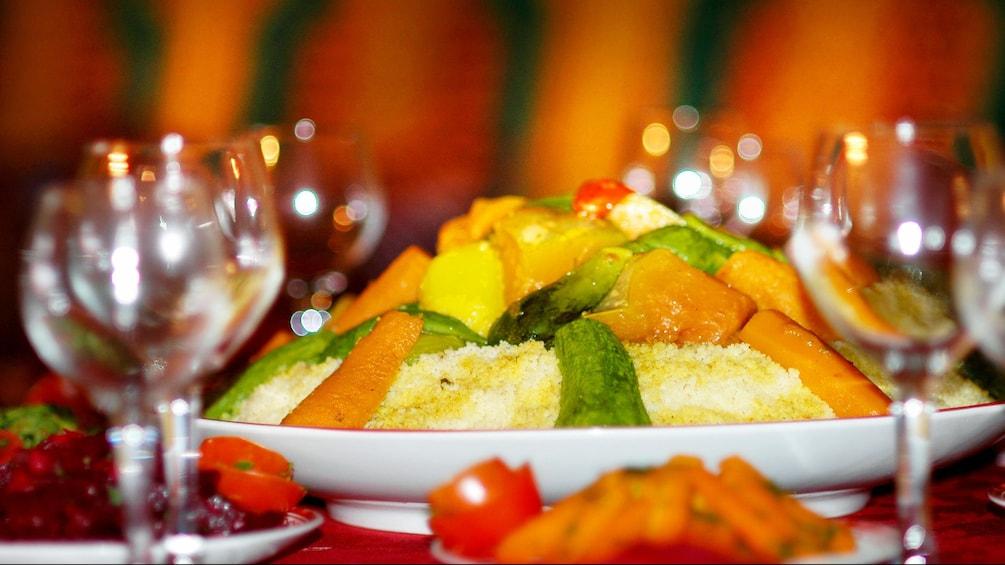 Show item 5 of 5. Plate of moroccan food in Agadir