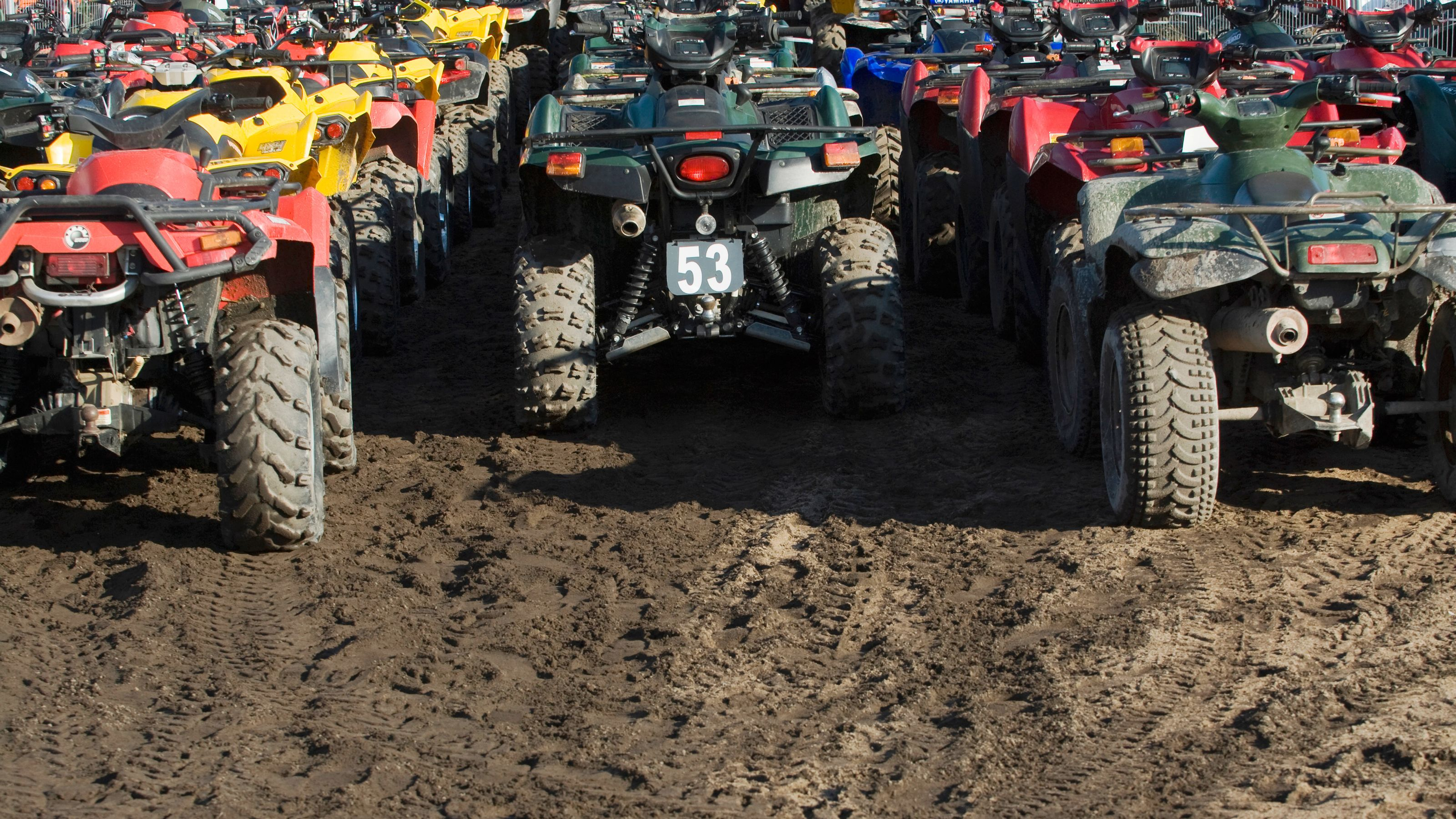 Dune buggies parked on the sand awaiting their riders in Agadir