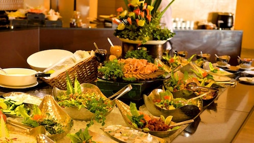 Buffet of fresh food