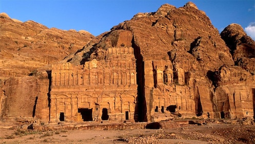 Ancient town of Petra carved out of rock