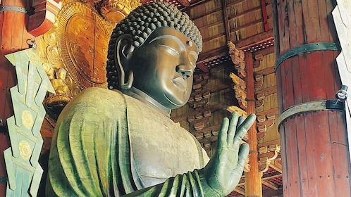 Statue of budda in temple in Tokyo