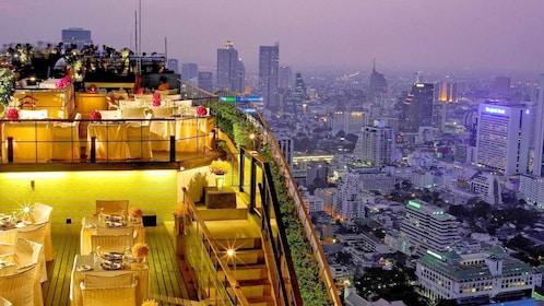 Dining area at vertigo in bangkok