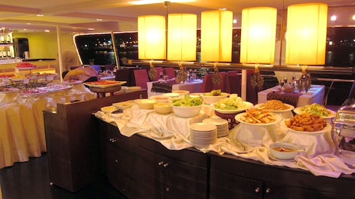 Food on a dinner cruise in bangkok