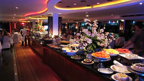 Buffet for a dinner cruise in bangkok
