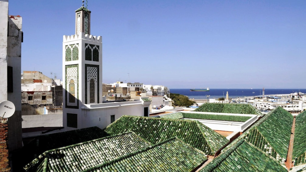 green roofed buildings in Tangier