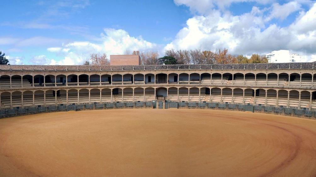 inside the Plaza de Toros in Ronda